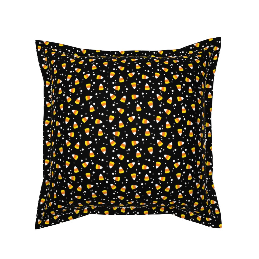 Serama Throw Pillow featuring Candy Corn Confetti by cottoncanvas