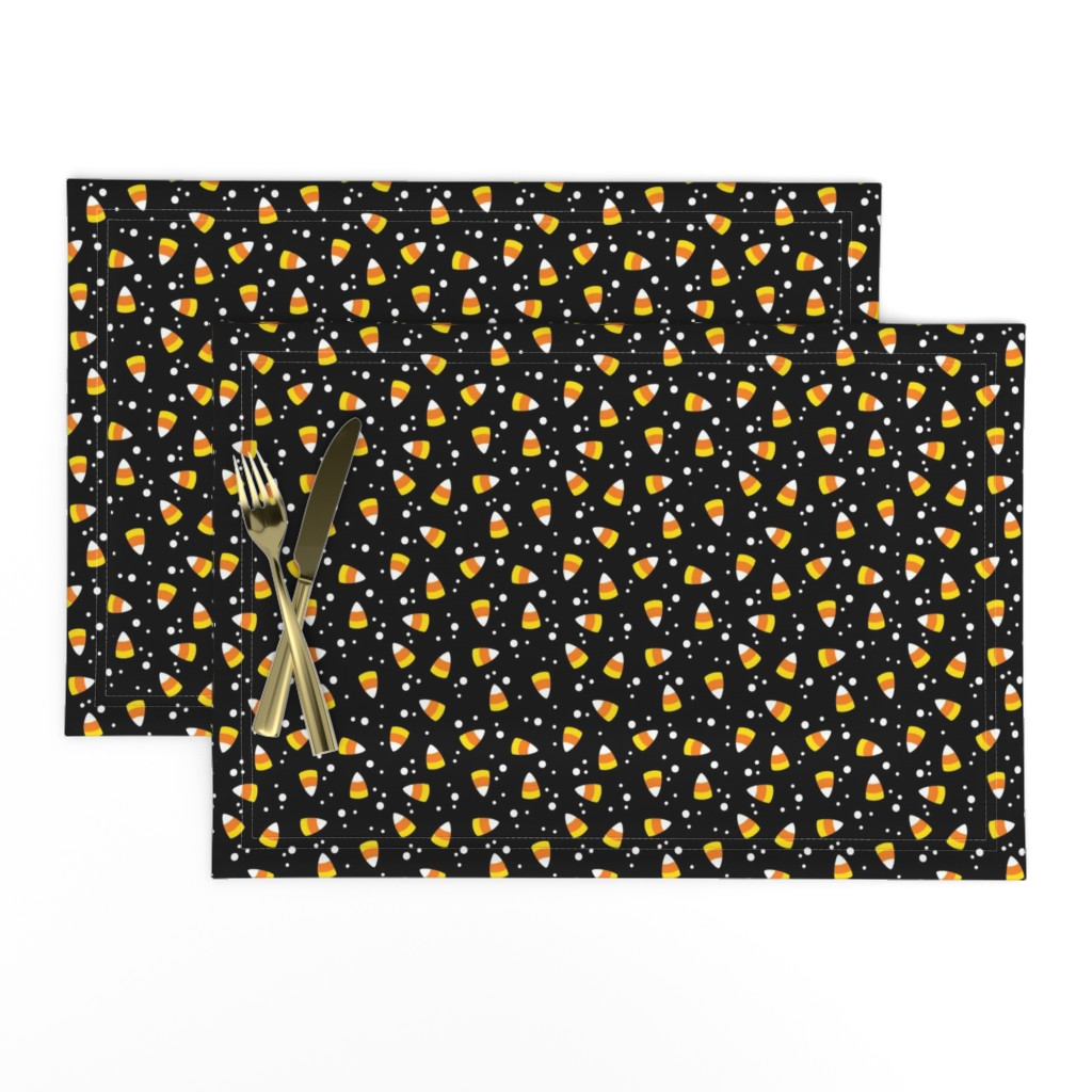Lamona Cloth Placemats featuring Candy Corn Confetti by cottoncanvas