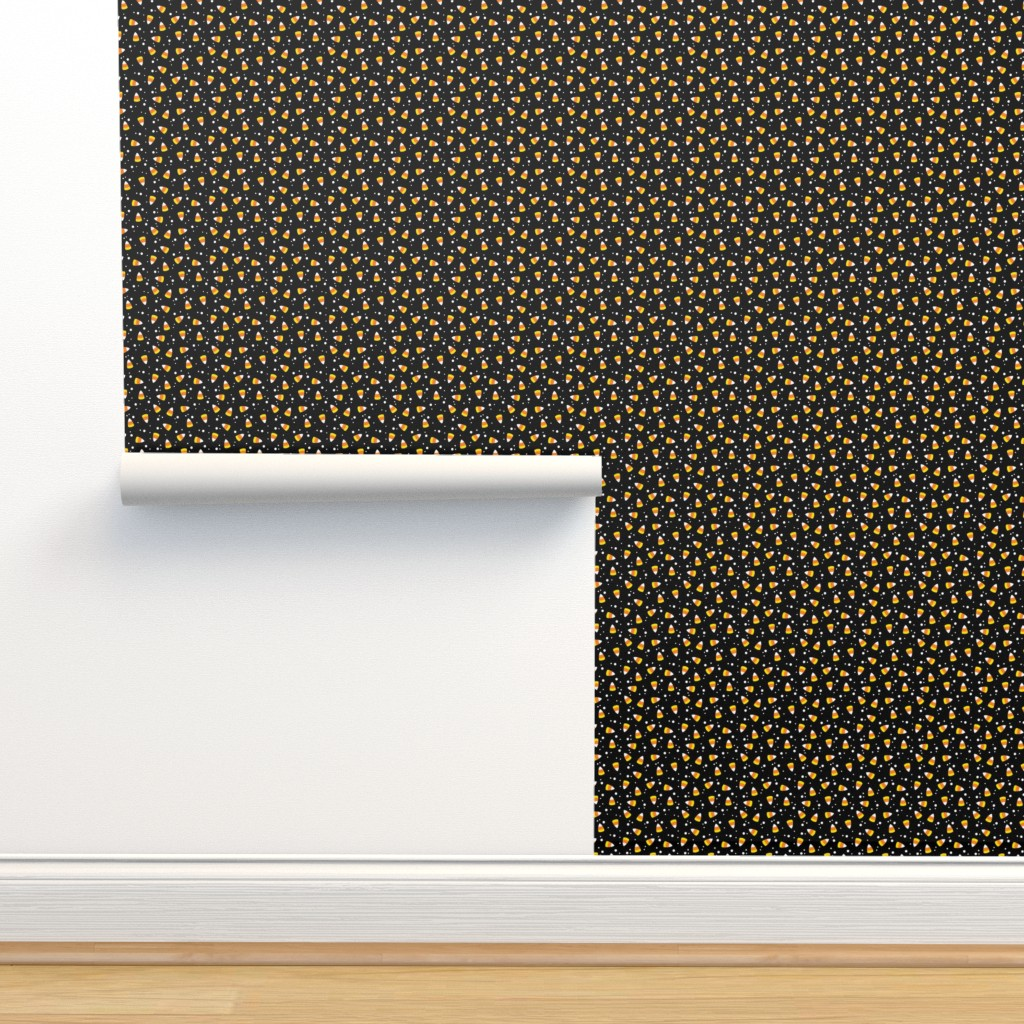 Isobar Durable Wallpaper featuring Candy Corn Confetti by cottoncanvas