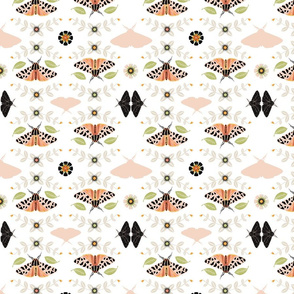 Bohemian Moth Blush 400 White by Tresa Meyer-Clark