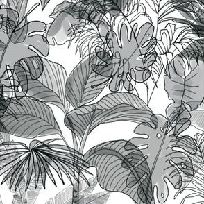Deep Jungle Black and white