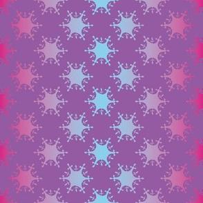 grsdient snowflakes by rysunki_malunki