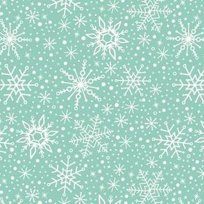 Snowflakes Teal