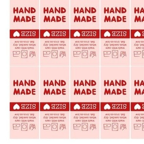 44x Handmade Wash Labels