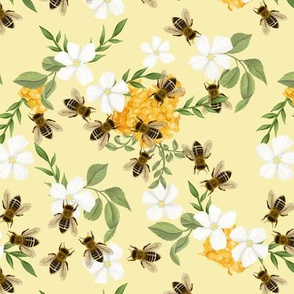 No flowers without bees in yellow