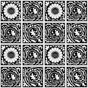 The William Morris Collection ~ Trellis Diaper ~  Black and White