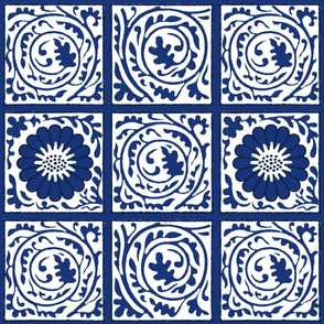 The William Morris Collection ~ Trellis Diaper ~  Willow Ware Blue and White