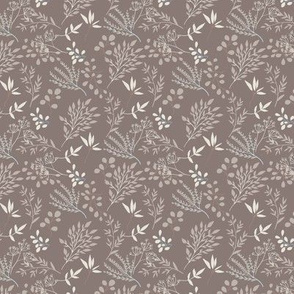 Leaves Pattern on Taupe