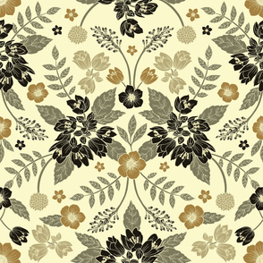 Light Neutral Floral Pattern (large scale)