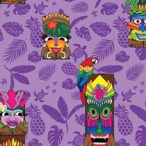 Tiki toons purple 2019