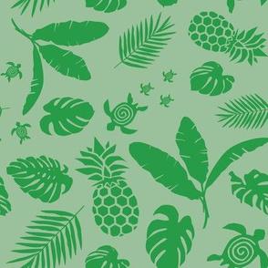 Tiki toons  background green 2019