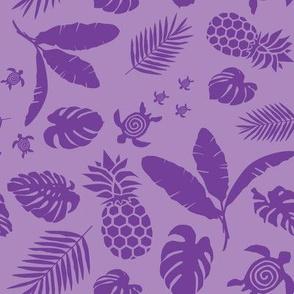 Tiki toons  background purple 2019