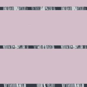 Gray & Pale Amythyst Satin Style Ribbon