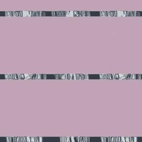 Gray & Amethyst Satin Style Ribbon