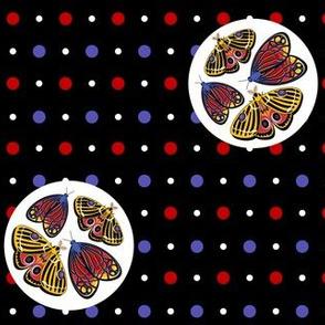 Moths on  spots - offset