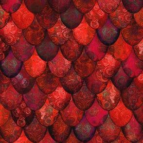 Dark Red Mermaid or Dragon Scales by Su_G_©SuSchaefer
