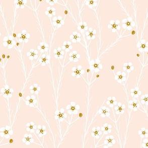 winter flora - geraltdon wax - pale peach