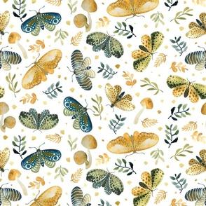 watercolour moths