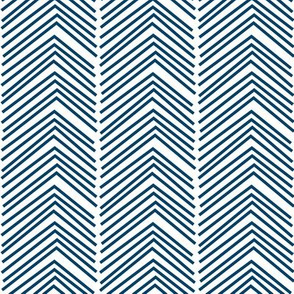 chevron love LG navy blue