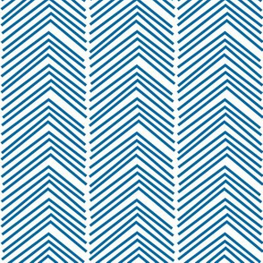 chevron love LG royal blue