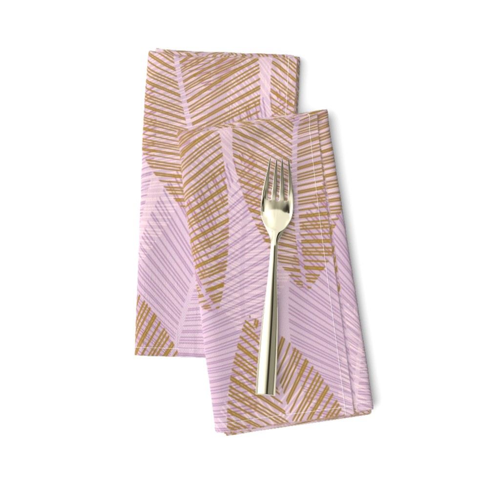 Amarela Dinner Napkins featuring leaf-row-lavender by wren_leyland