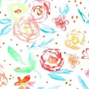 Spring in California • watercolor flowers