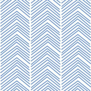 chevron love LG cornflower blue