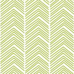 chevron love LG lime green