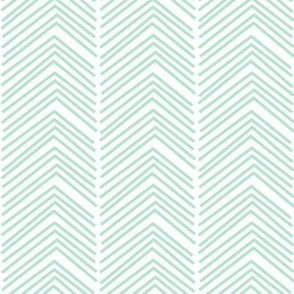 chevron love LG mint green