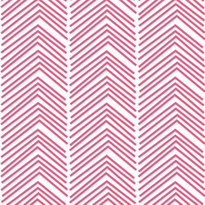 chevron love LG hot pink