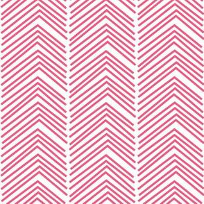 chevron love LG hot pink