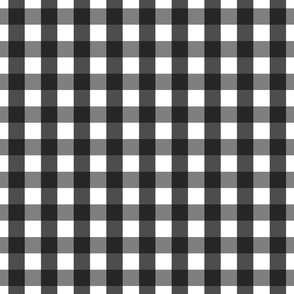 gingham 1in black and white
