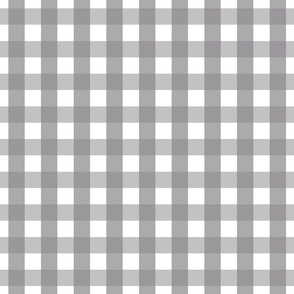 gingham 1in granite grey