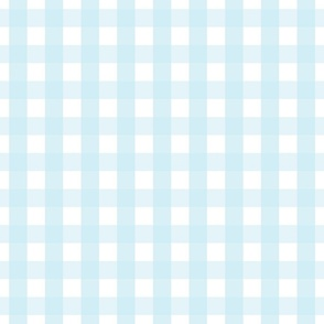 gingham 1in ice blue