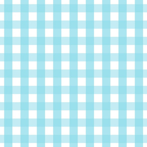 gingham 1in sky blue