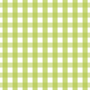 gingham 1in lime green
