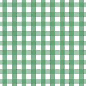 gingham 1in kelly green