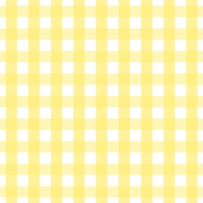 gingham 1in lemon yellow