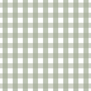 gingham 1in sage green