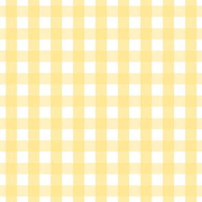 gingham 1in sunshine yellow