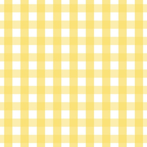 gingham 1in butter yellow