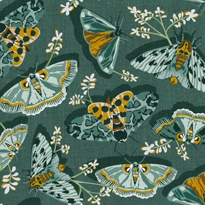 Gathering Moths - Antique Green Regular Scale