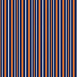 Stripes Vertical in Blue Orange White