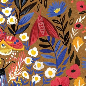 Florals and Moths - small repeat