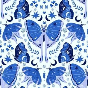Blue Moths - Large Scale