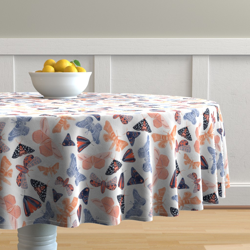 Malay Round Tablecloth featuring Night Circus - Large by tarakatedesigns