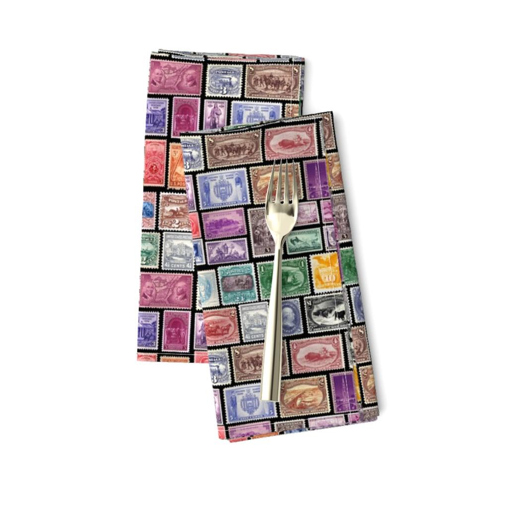 Amarela Dinner Napkins featuring stamp group by keweenawchris