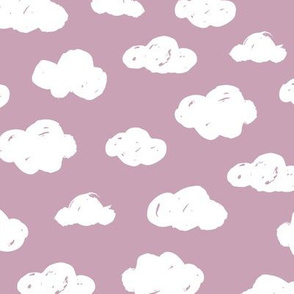 Soft clouds dreams and sleepy wonderland sky pattern mauve lilac