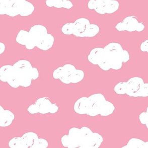 Soft clouds dreams and sleepy wonderland sky pattern pink