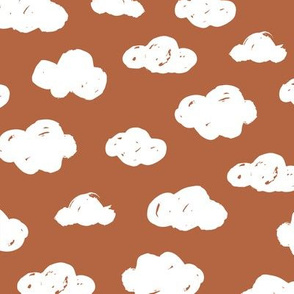 Soft clouds dreams and sleepy wonderland sky pattern caramel copper rust autumn